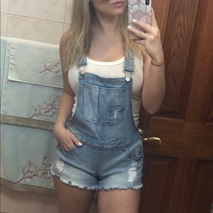 CHARLOTTE RUSSE JEAN OVERALLS